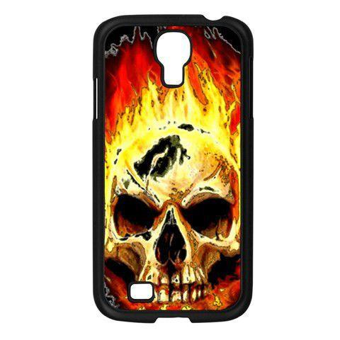 Samsung Galaxy S4 Case - Burning Skull Requiem - Metal Mythologies Brand