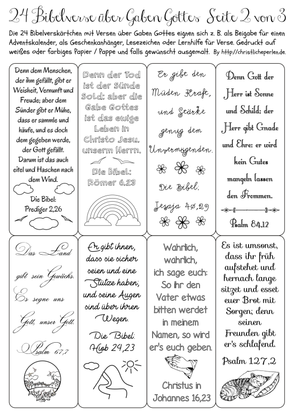 24 Bibelverse Z B Fur Einen Adventskalender Adventkalender Bibel Vers Bibelverse