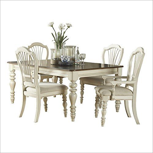 Dining Table With Four Wheat Back Chairs