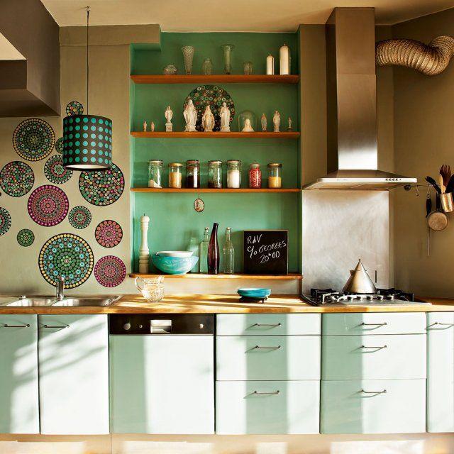 Idee Cuisine Ikea Vert Celadon Decoration Maison Cuisine En Longueur Decoration Ethnique