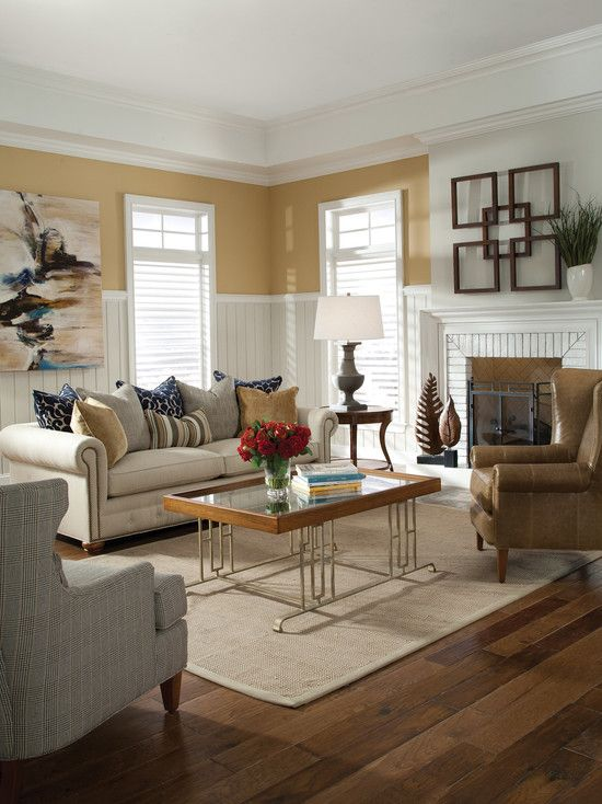 Gray Couch Tan Walls Design, Pictures, Remodel, Decor and Ideas - Brown Couch Living Room