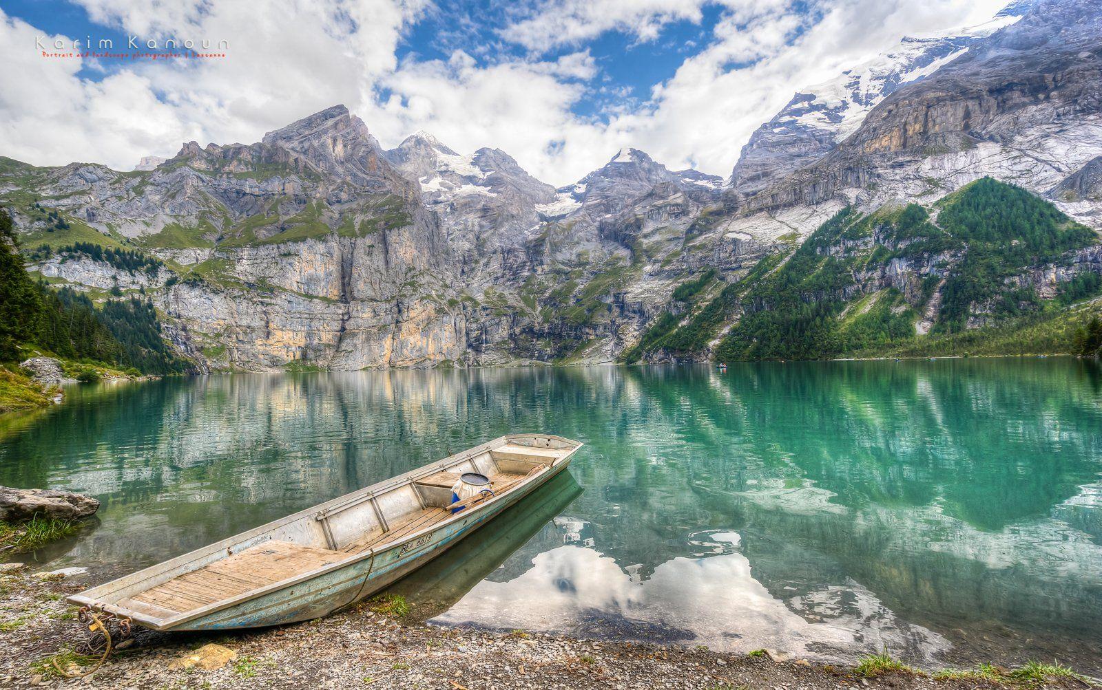 Lake Oeschinen - Kandersteg, Bern, Switzerland   Gorgeous scenery, Bern, Lake