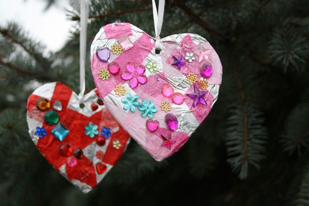 tin-foil tissue hearts party activity?
