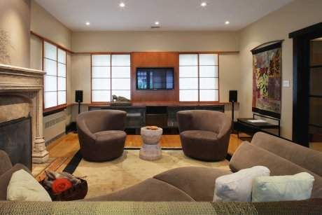 Radial Balance Bad Example Living Room Home Theater Living Room Theaters Media Room Design