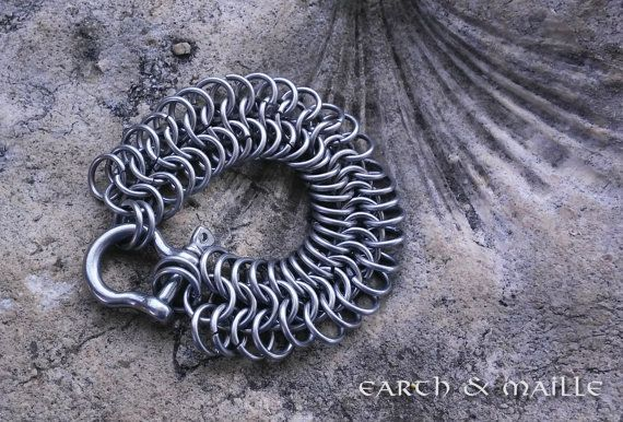 European 6 in 1 Chainmail Bracelet Stainless Steel European 6