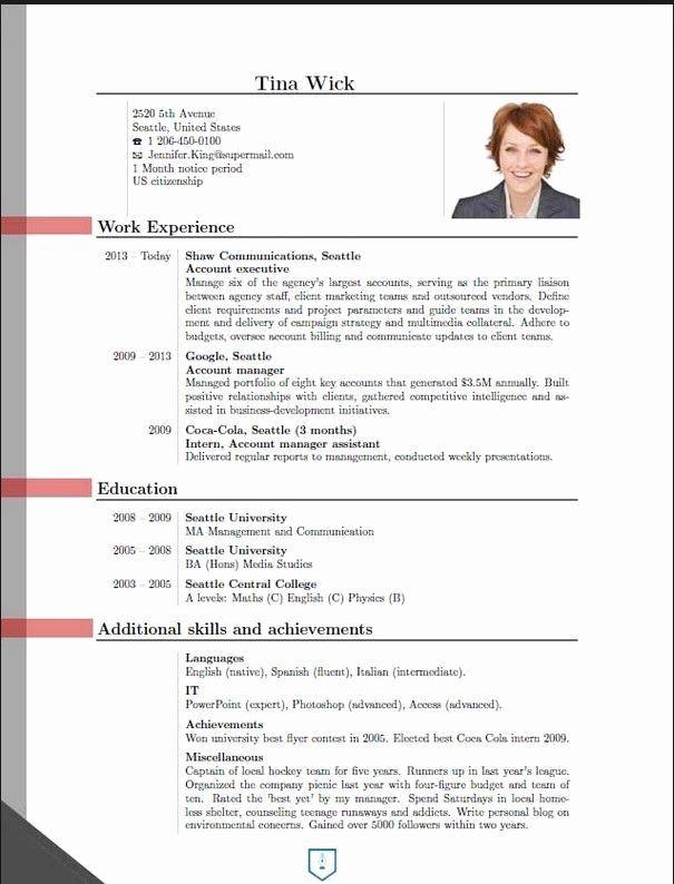 resume curriculum vitae template beautiful new cv format