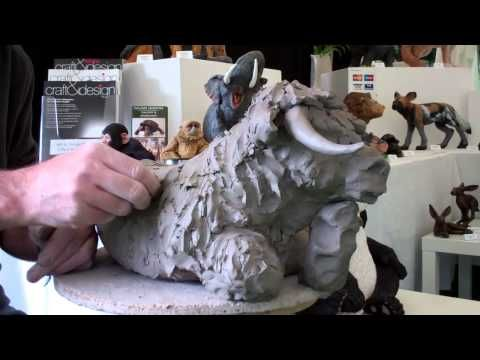 Ceramic Sculptor Making Highland Cow Perth Perthshire