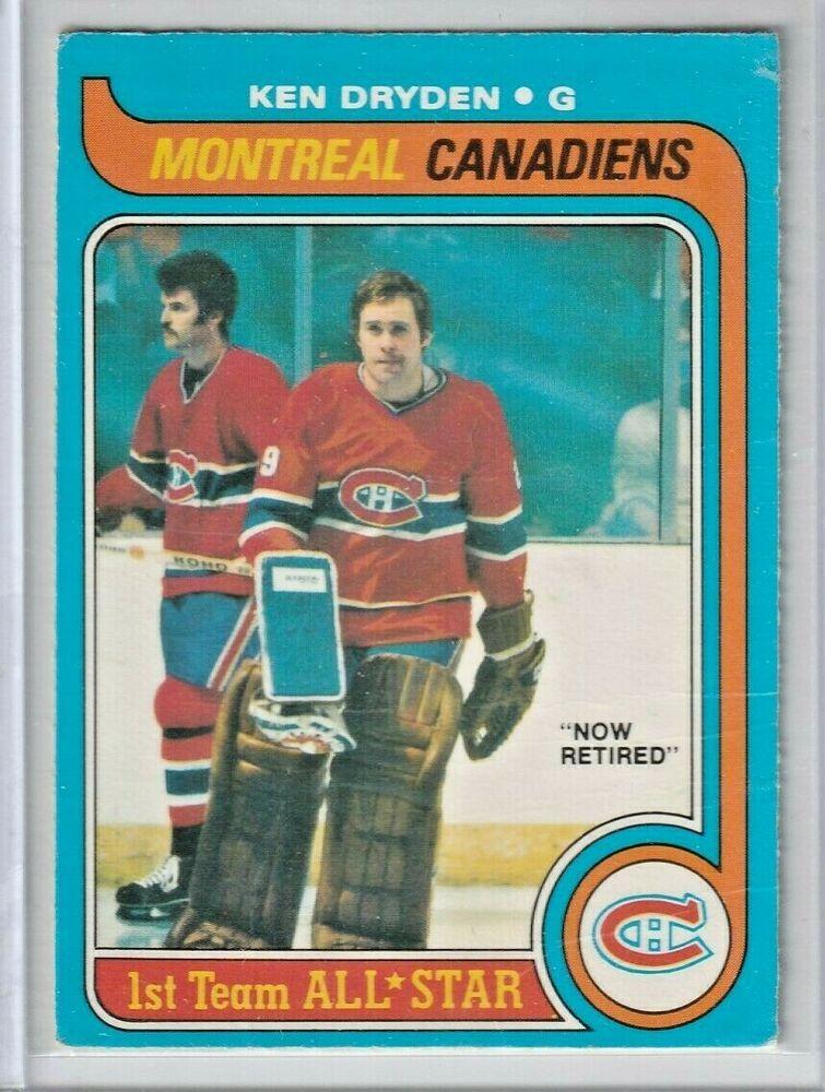 Ken Dryden 197980 OPC OPeeChee Montreal Canadiens 150