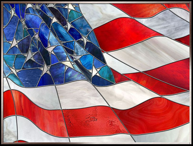 Stained Glass American Flag.Stained Glass American Flag Faux Stained Glass Stained