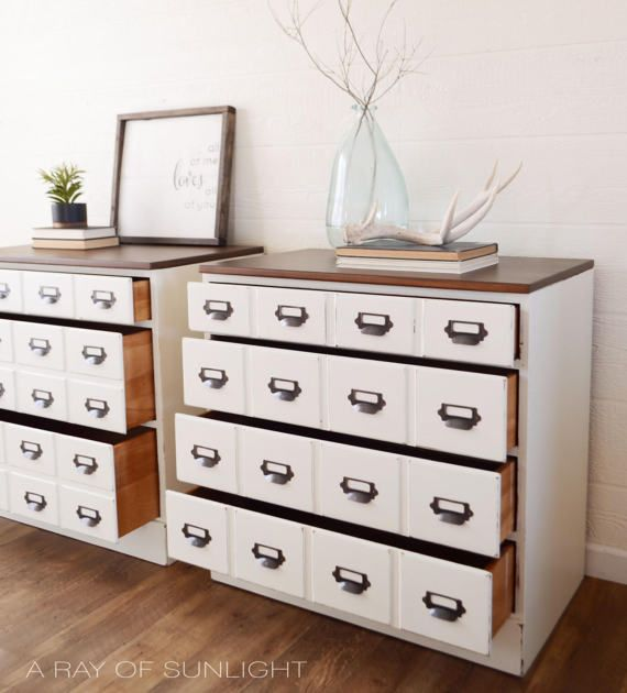 Card Catalog Chest Of Drawers Apothecary Cabinet Large