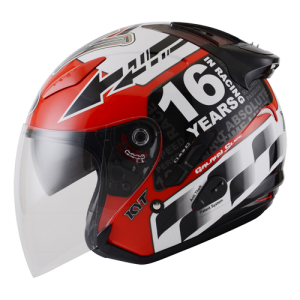 Helm KYT Galaxy GP Race Circuit Motegi Racing Fashion Moda