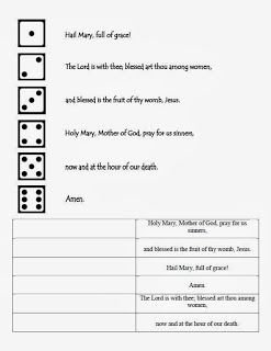 Hail Mary Activities Hail Mary Prayer Worksheet Prayers To Mary