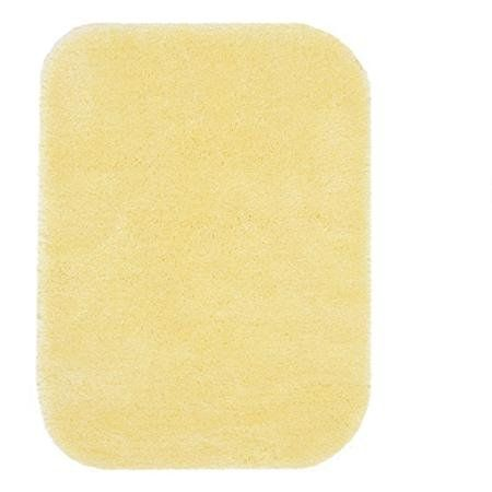 Size: 20x34 Better Homes and Gardens Extra Soft Bath Rug, Lemon Ice. Freshen up your bathroom's look with the Better Homes and Gardens Extra Soft Bath Rug Collection. This product is made of 100 percent nylon fabric that delivers luxurious softness and lasting color. This Better Homes and Gardens rug features a skid-resistant latex backing to help prevent slipping, especially when the floor is wet. It is also machine washable. To achieve an entirely updated look for your space, you could...
