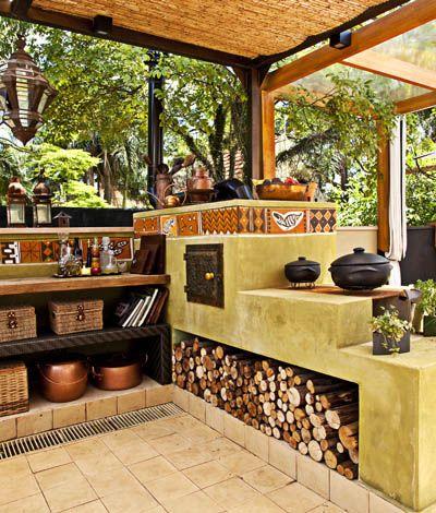 Cocina de le a casas que me inspiran pinterest de - Cocinas rusticas de lena ...