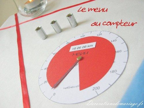 Id es de d coration de mariage faire part marque place - Idee marque place mariage ...