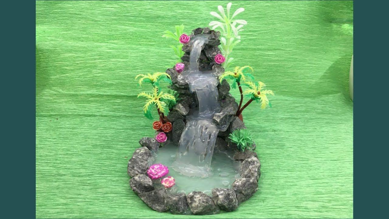 Diy Hot Glue Waterfall Updated Miniature Craft Lets Make Art Wodospad Ogrod Wrozek Wrozki