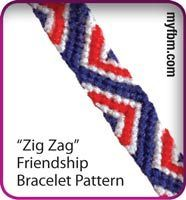 Friendship Bracelet Pattern Zig Zag Design By My Friendship Bracelet