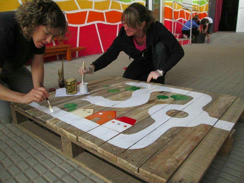 Cool idea for reusing a pallet for children. … | Kids ...
