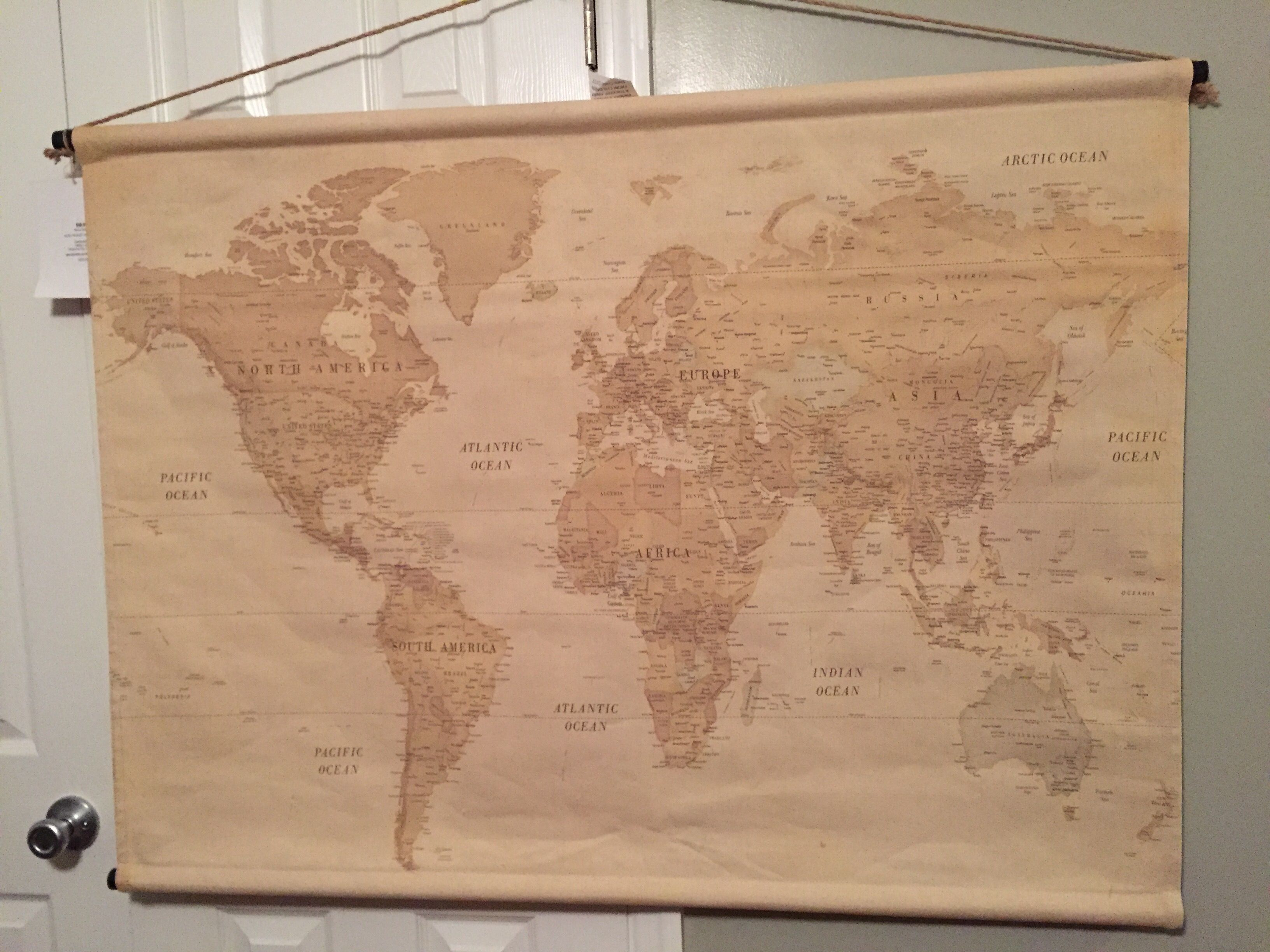 World Map Wall Hanging From Hobby Lobby Possibly Add Magnet Hot