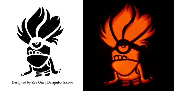 10 best free minion pumpkin carving stencils patterns ideas for rh pinterest com minion pumpkin stencil bob minion pumpkin stencil free