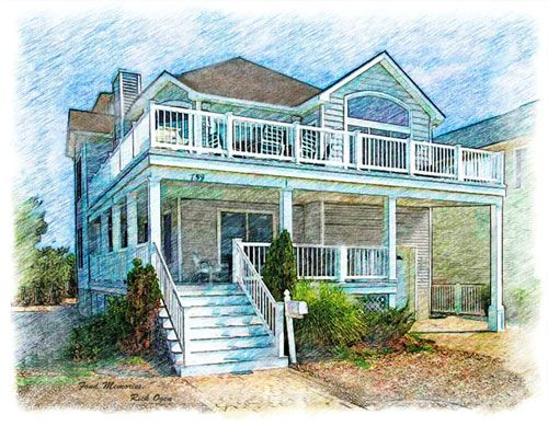Portraits Of Your House In Pencil Colored Pencil Or Watercolor