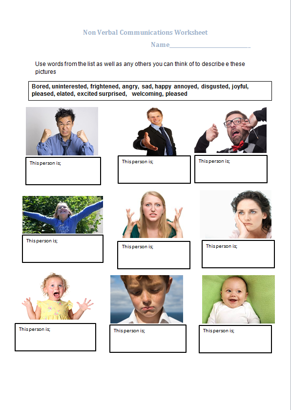 educational worksheet that can be discussion groups on non  verbal communication essay educational worksheet that can be discussion groups on non