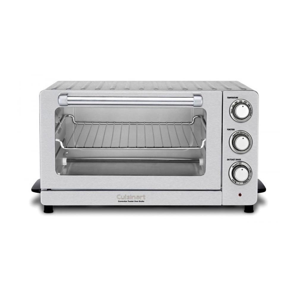 Cuisinart 1500 W 6 Slice Stainless Steel Toaster Oven With Broiler Tob 60n1 Stainless Steel Toaster Toaster Countertop Oven