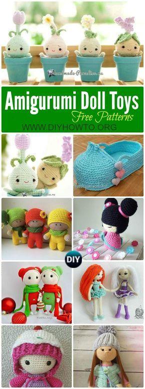 Crochet Doll Toys Free Patterns | Spielzeug, Muster und Häkelpuppen