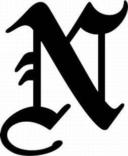 Letter N In Different Fonts : letter, different, fonts, Letter