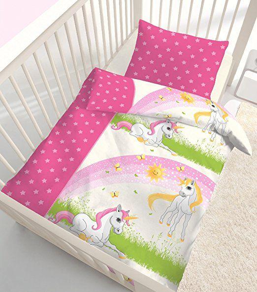 Fein Biber Baby Mädchen Bettwäsche Magic Dream Stars Einhorn