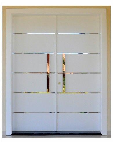 Porta externa laqueada puertas pinterest puertas for Puerta corrediza externa