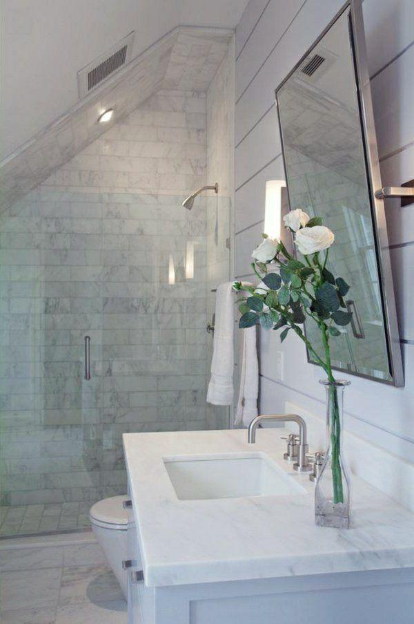 Une salle de bain sous pente ou sous combles en 52 photos! Attic