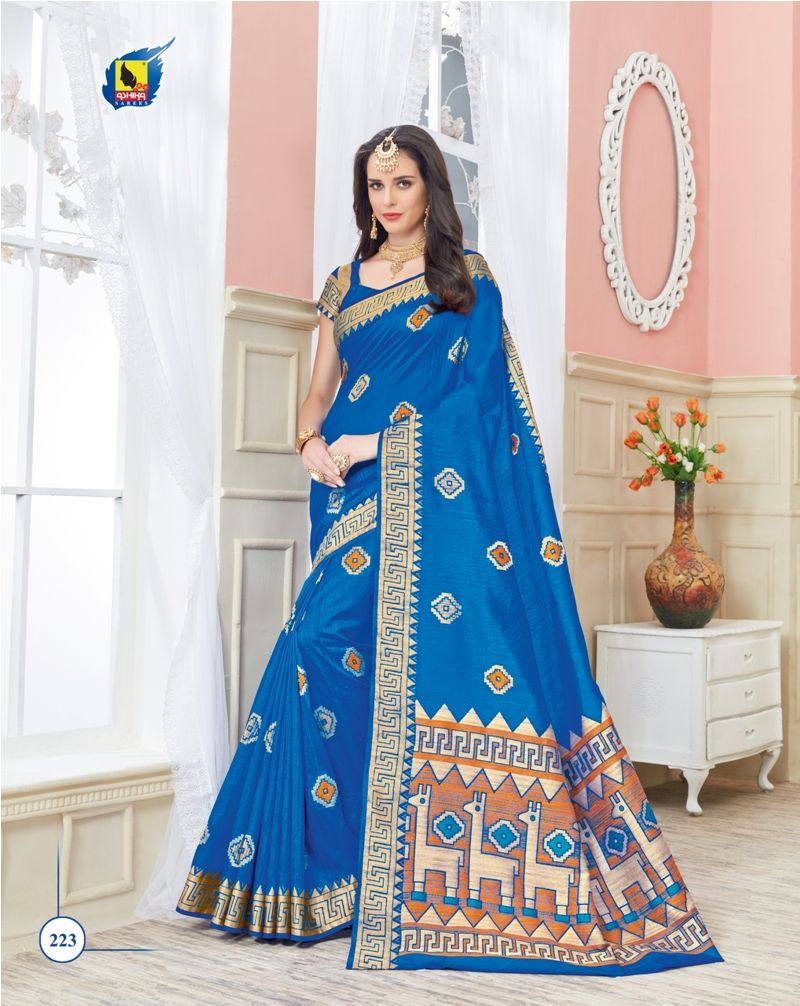 Buy vivana ashika designer partywear raw silk saree online from
