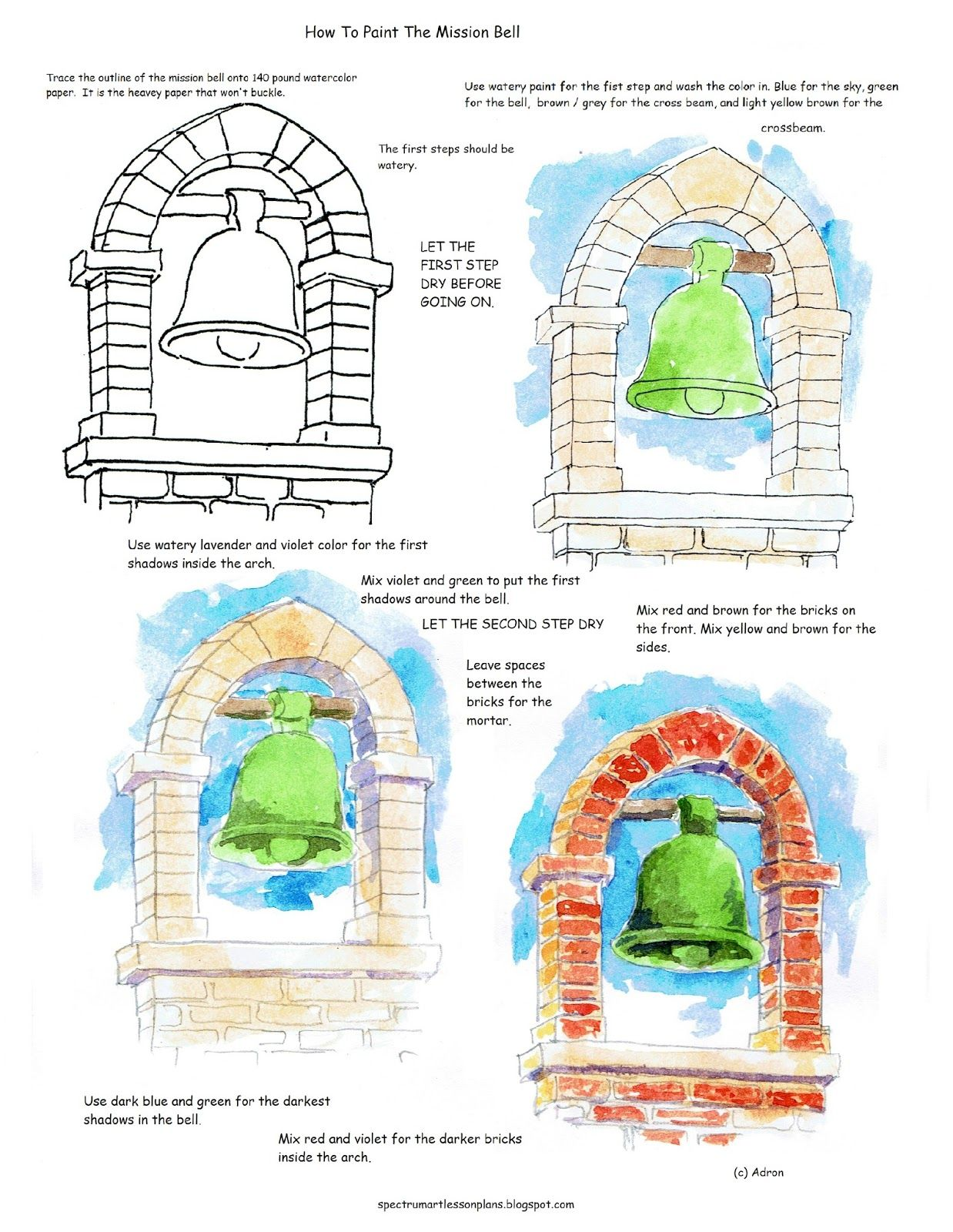How To Paint A Picture Of The Mission Bell Worksheet