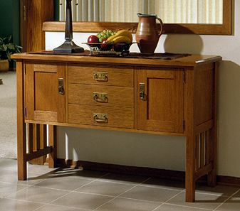 Arts And Crafts Mission Buffet Woodworking Plan Indoor Home Dining Furniture Project