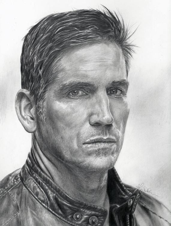 Drawing Print of Jim Caviezel as John Reese from Person of | Etsy