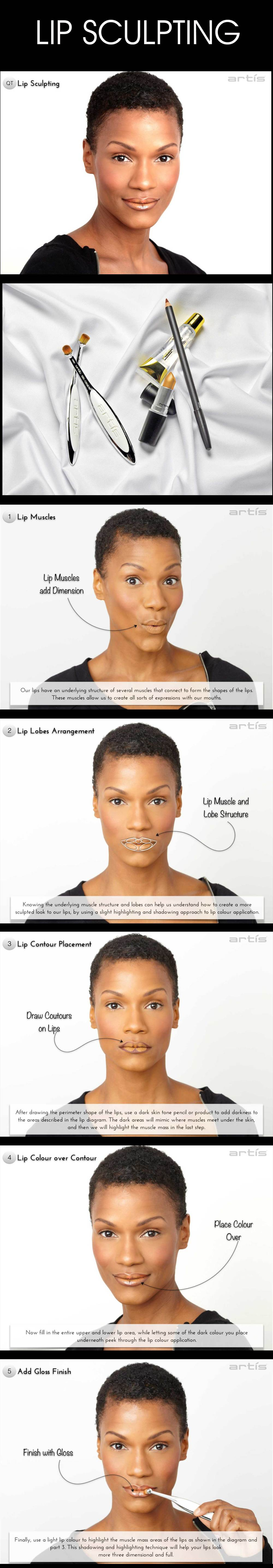 Learn how to make your lips look more threedimensional