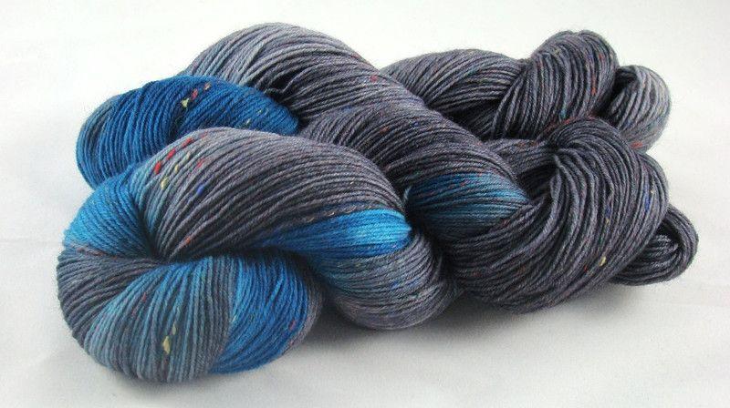 """""""Neptun""""+Trekking+Tweed+4fach,+handgefärbt,+100g+von+Fadenbunt+auf+DaWanda.com"""