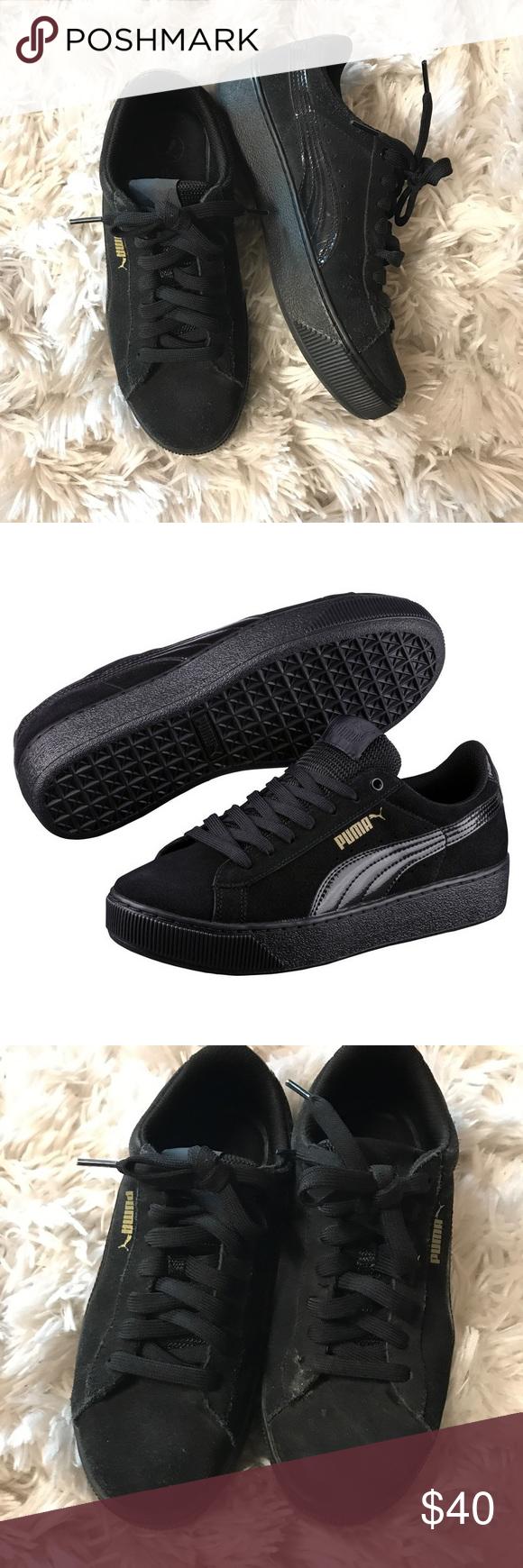 Black Vicky Vicky Sneakers Puma Puma Black Platform Puma Sneakers Vicky Black Platform FK35cJl1uT