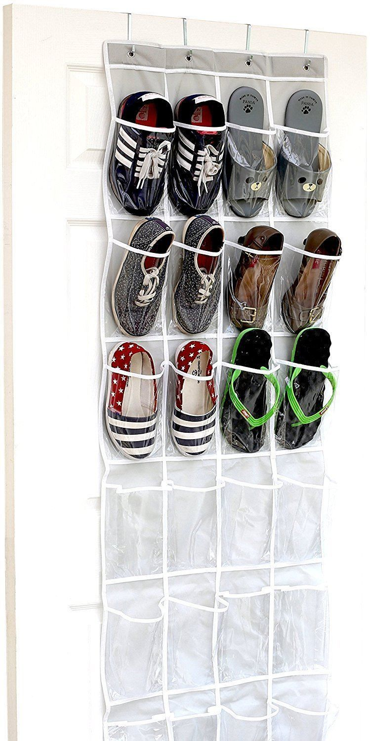 Over the door hanging shoe rack organizer for closets shoe storage