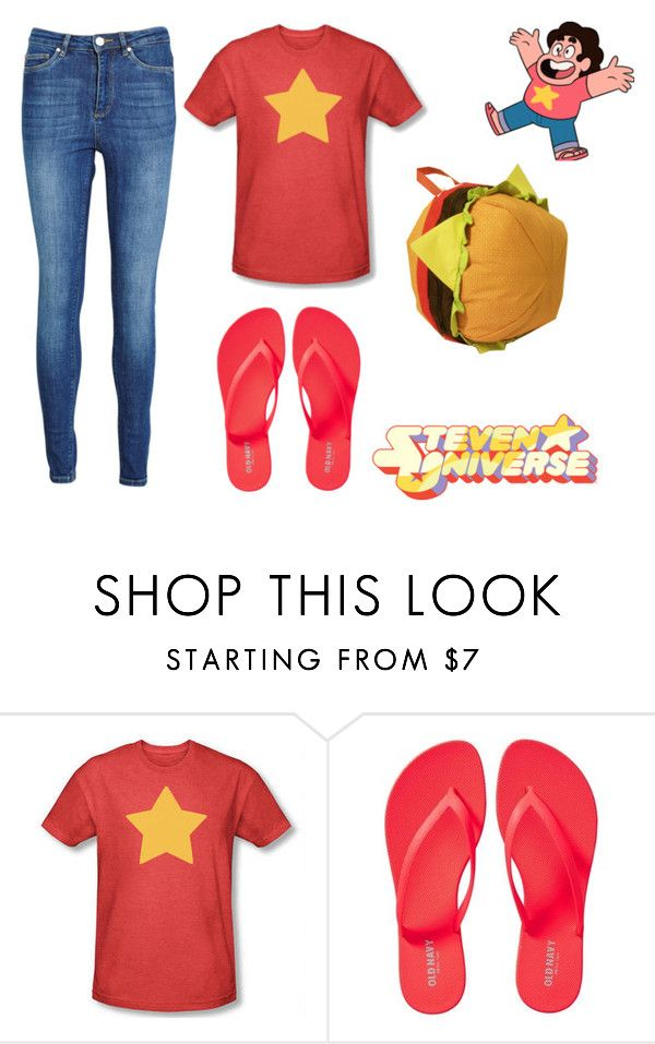 """""""Steven Universe's Outfit"""" by triplethreatfandoms ❤ liked on Polyvore featuring Old Navy, Zoe Karssen, cosplay, crystalgems, stevenuniverse and cheeseburgerbackpack"""