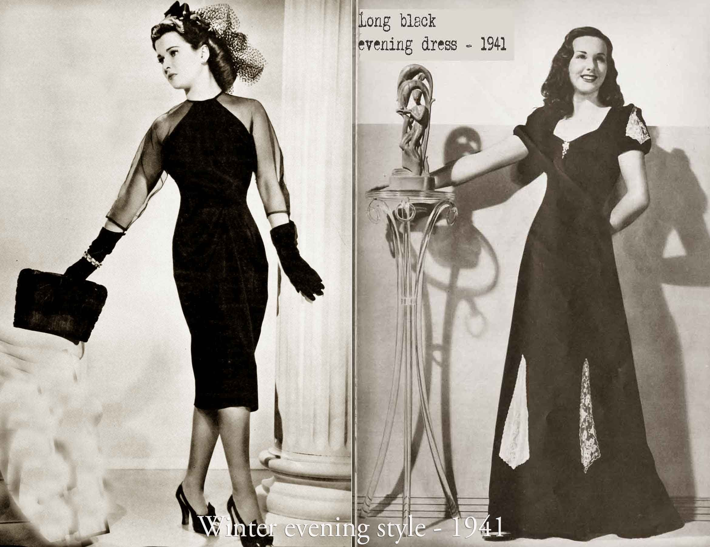History Of 1940s Fashion 1940 To 1949 Glamour Daze Evening Dress Fashion 1940s Fashion Fashion [ 1803 x 2340 Pixel ]