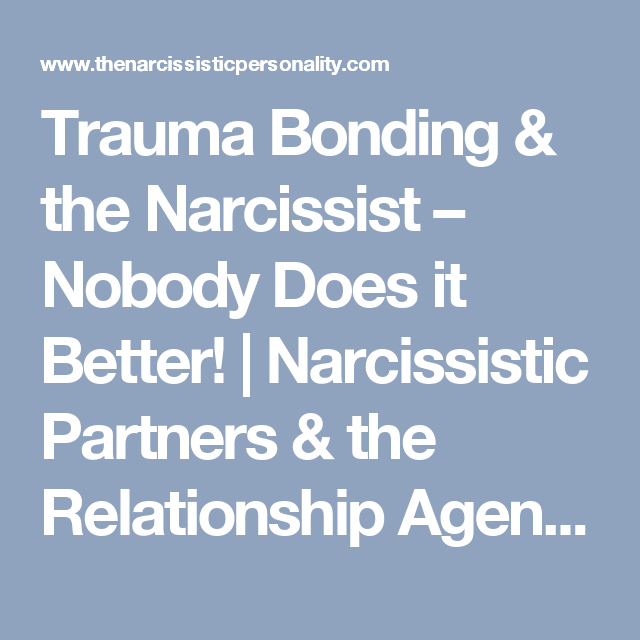 Narcissistic partners and the relationship agenda