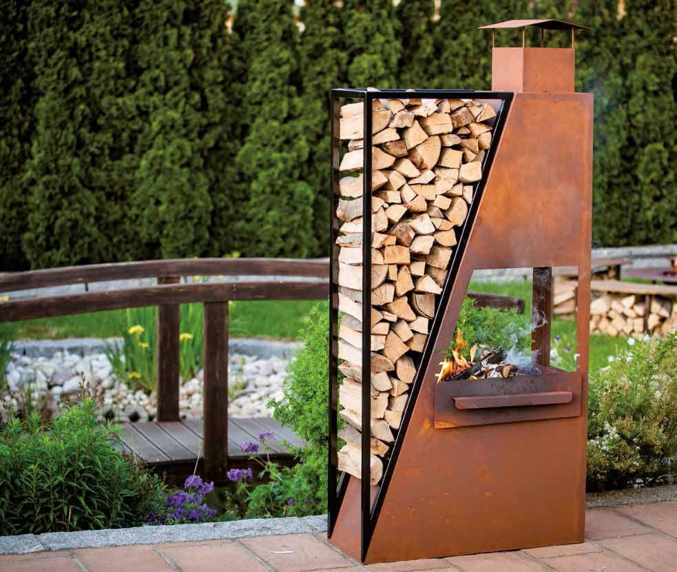 edelrost kaminofen barbeque inkl grillrost kamin fen und grills garden garden design und patio. Black Bedroom Furniture Sets. Home Design Ideas