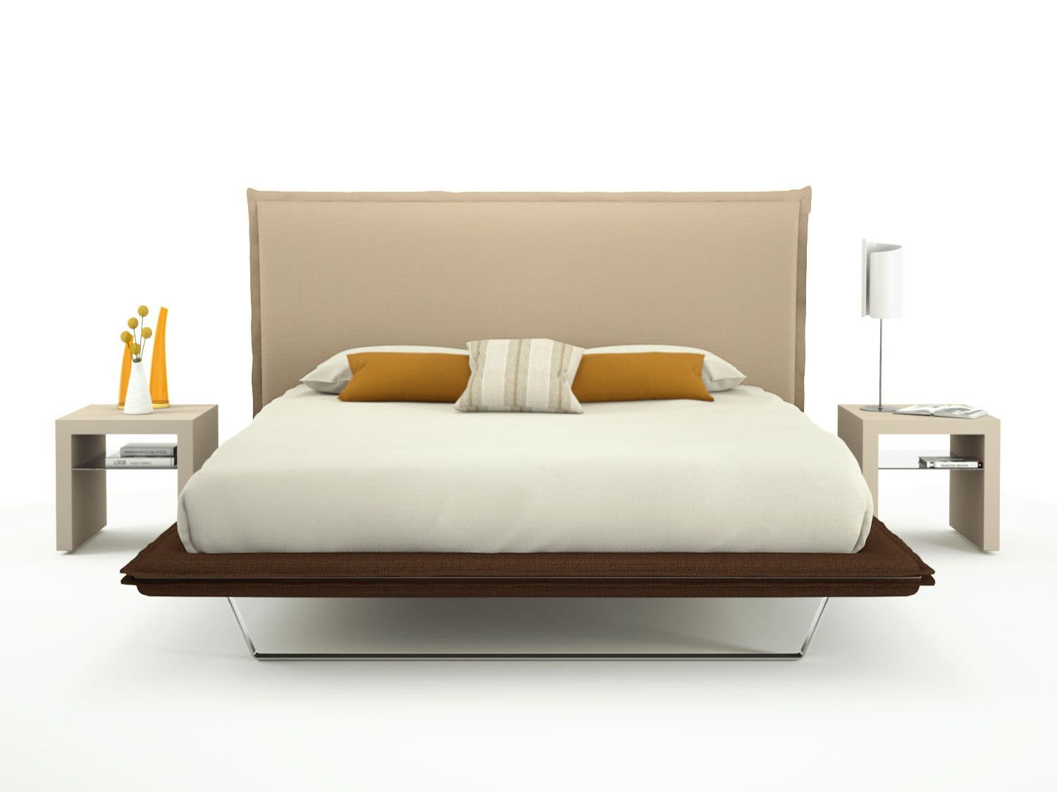 Charme Two Tone Bed With High Headboard Diotti Com Headboard Bed Frame And Headboard High Bed Frame