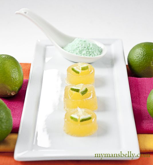 Margarita Jello Shots 3/4 Cup Tequila (separated) 1/2 Cup
