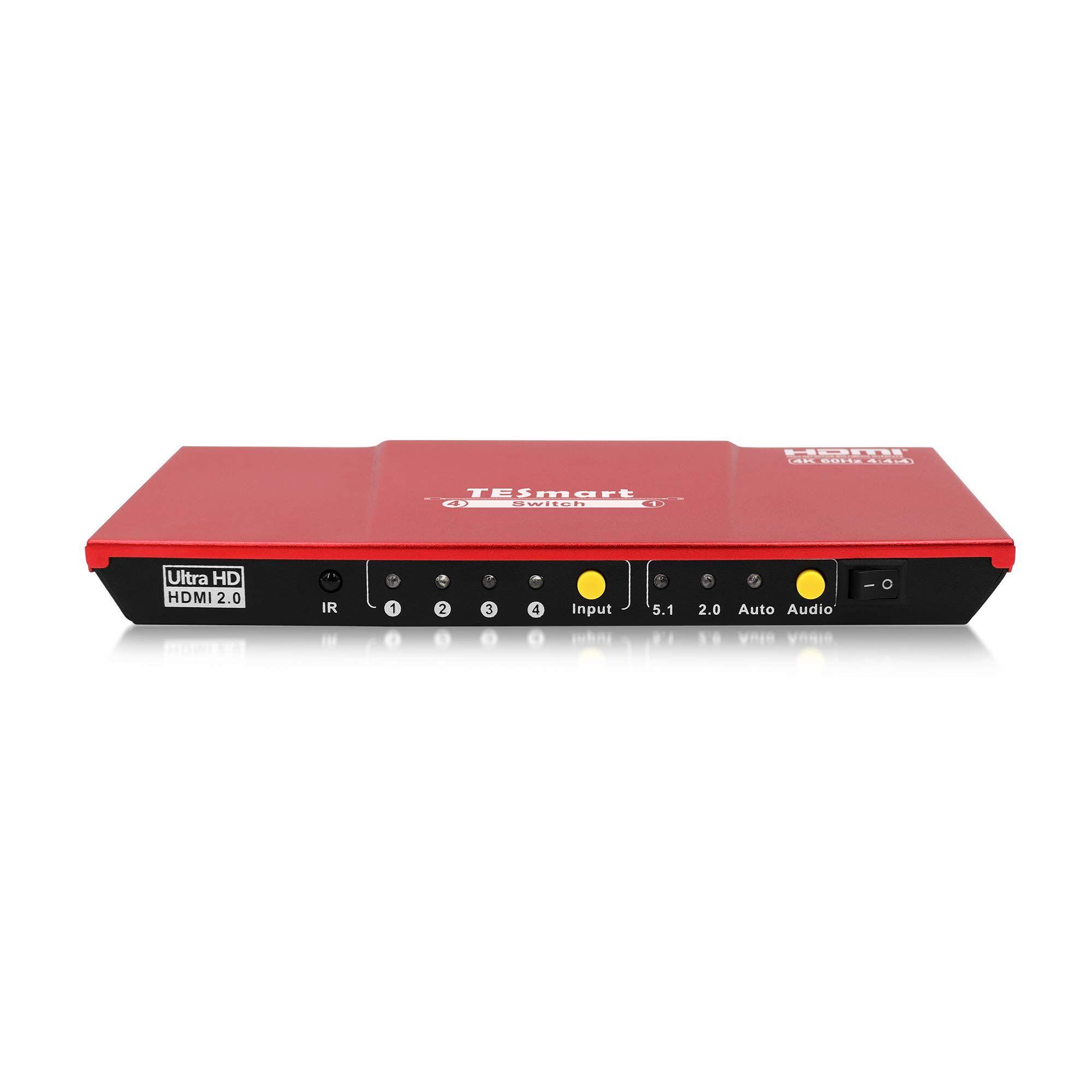 TESmart Ultra HD 4x1 HDMI 4K@60Hz The Fast Switch 4Kx2K 4