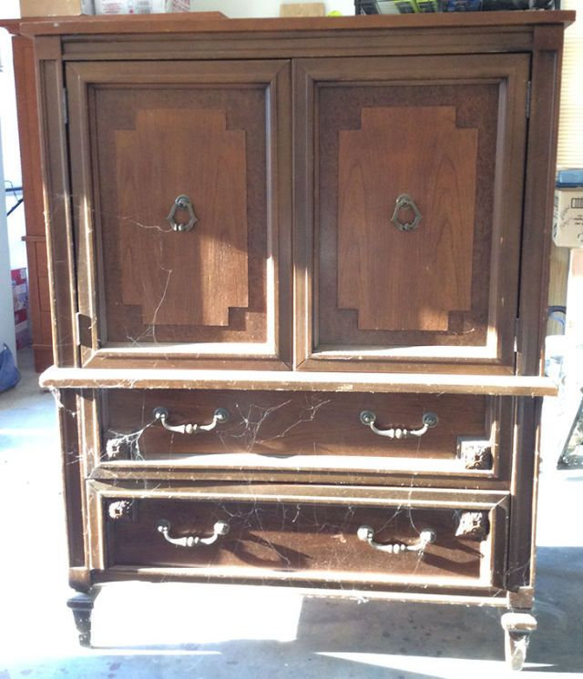 Before & After: A $30 Armoire Gets a Glam New Look | Armoires, 30th ...