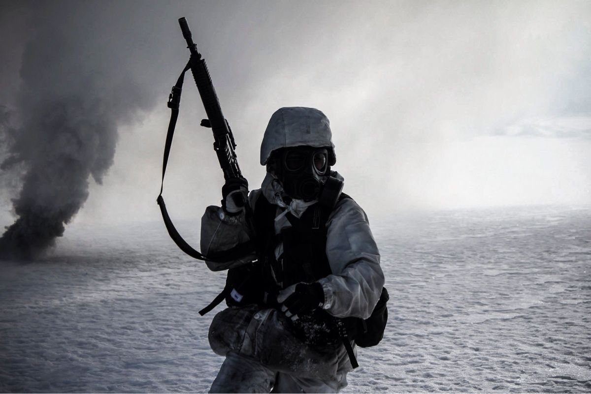 Just finished basic training in the swedish armed forces Here is a pretty cool pic i took a few
