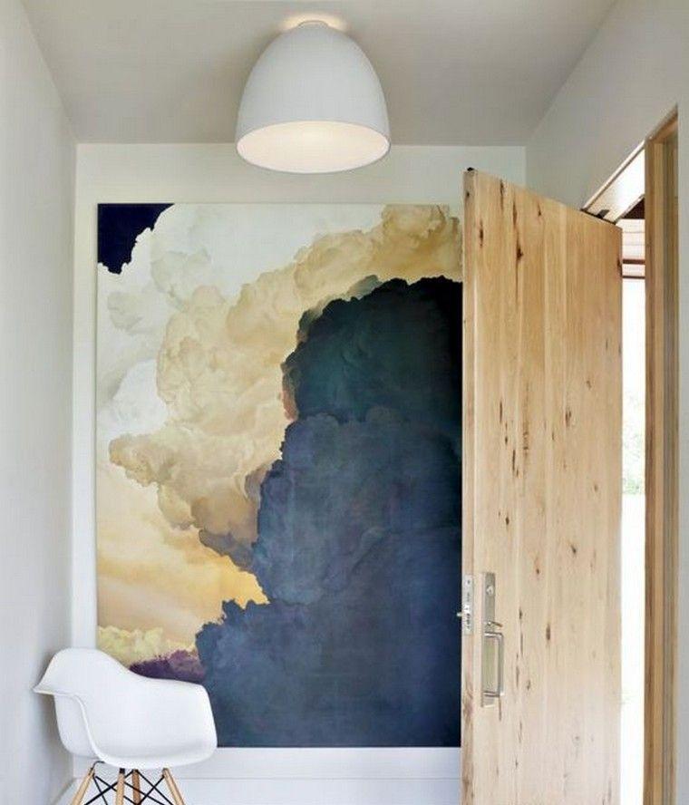 Tableau Deco Mur Entree Chaise Idee Comment Accrocher Un Tableau